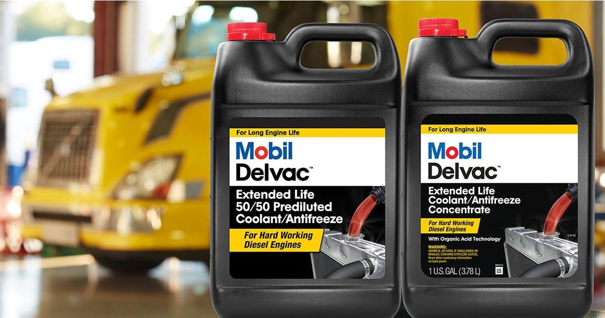 Mobil delvac extended life coolants limited warranty jug truck fb og